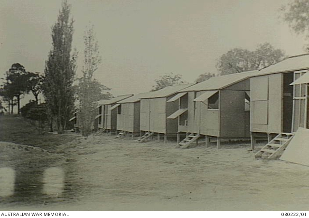 Sleeping huts at Oatlands Golf Links used by Headquarters, Parramatta. January 1945