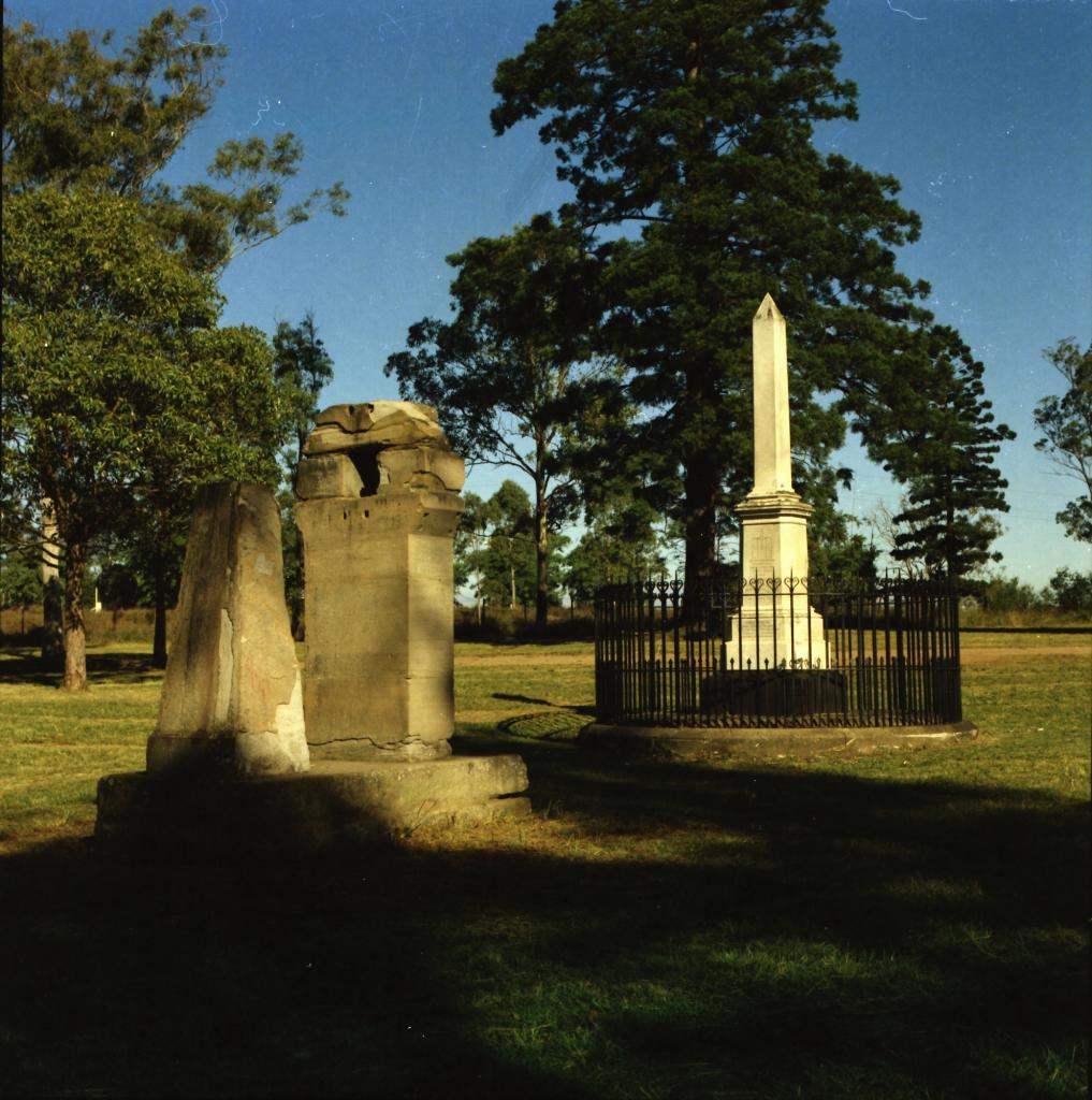 Remnant site of observatory in Parramatta Park. City of Parramatta Community Archives, ACC002/074/003