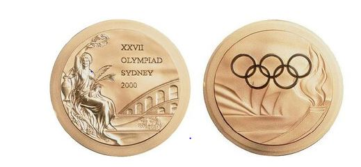 Olympic Victory Medal (Image Source: https://www.olympic.org/sydney-2000)