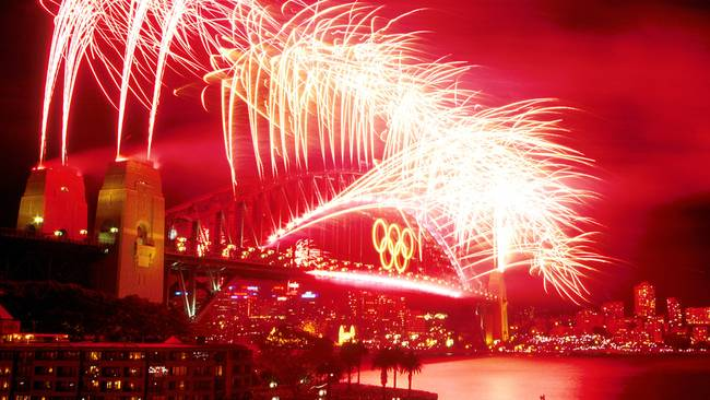 Sydney Olympics Fireworks (Image Source: Channel 7)