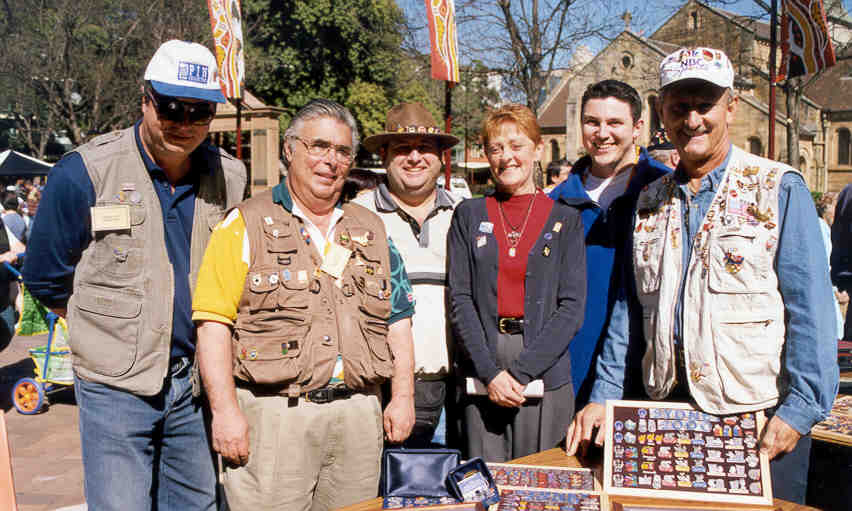 pin trading at the Olympics - City of Parramatta Council