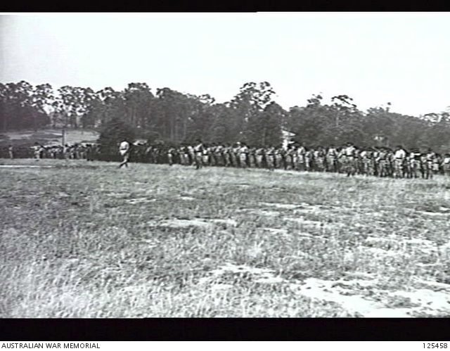 Members of the 19 Battalion Volunteer Defence Corps Awaiting Inspection.
