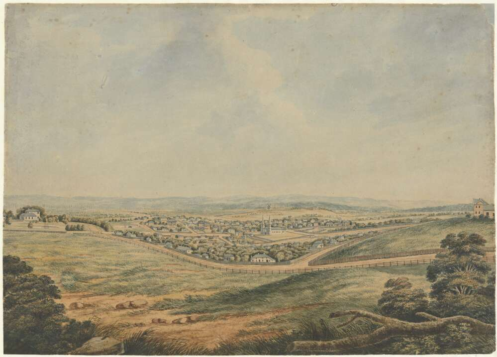 South view of Parramatta 1820 Joseph Lycett