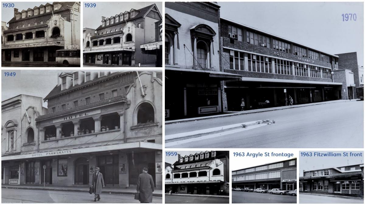'Hotel Parramatta' from 1930 to 1970