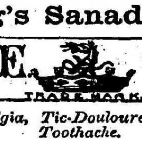 Advertisement for Curling's Sanadentium (Source: Miners' Advocate and Northumberland Recorder)[1]