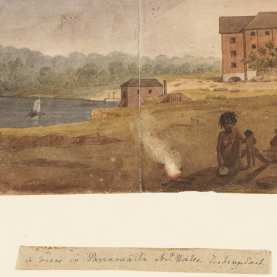 colonial artist depiction of people in Parramatta