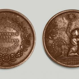Intercolonial Juvenile Industrial Exhibition medal 3D scan