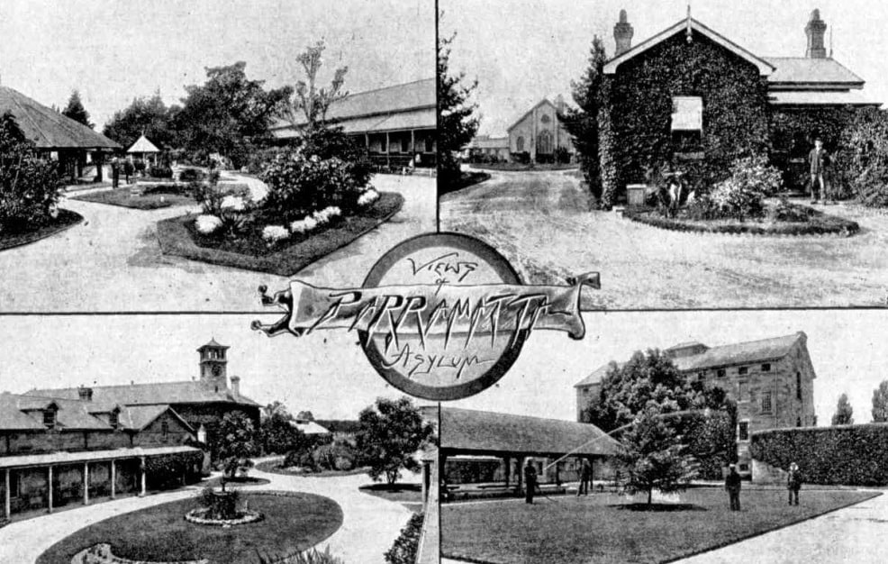 Gardens inside the Parramatta Lunatic Asylum Source: Austrailan Town and Country Journal, 12 Jan 1895, page 26)