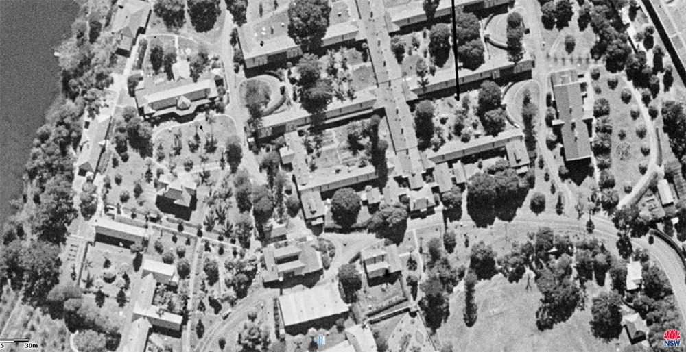 North Parramatta Cumberland hospital gardens 1943, State Archives Six Maps Project