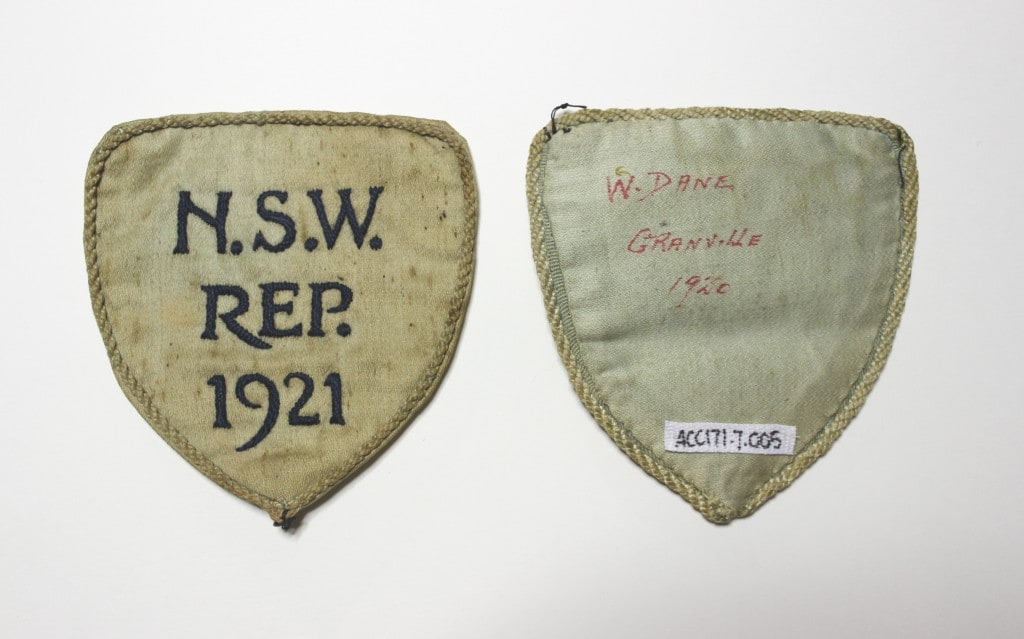 Granville District Soccer and Football Club Cloth Badges [ACC171.007.005] Source: Parramatta Heritage Centre