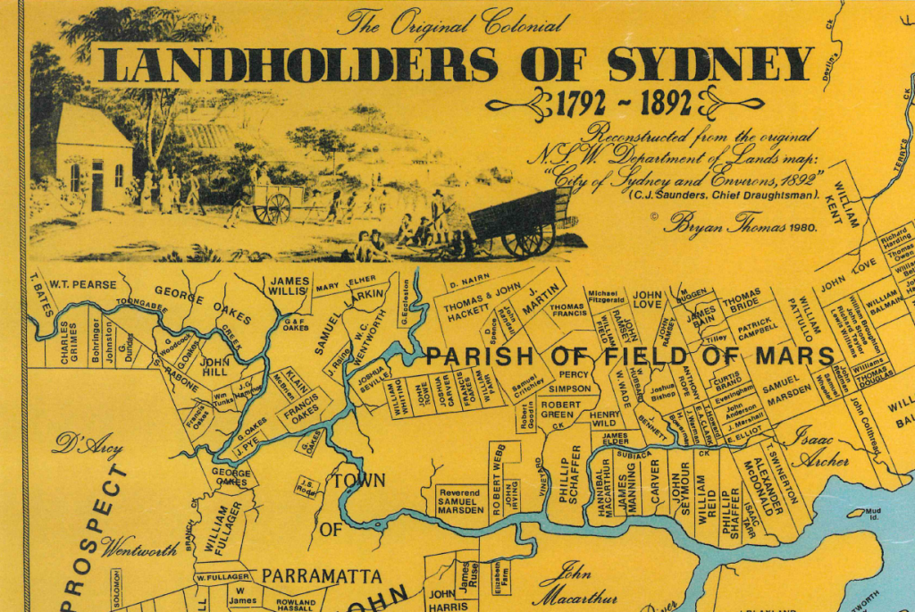 The Original Colonial Landholders of Sydney 1792-1892